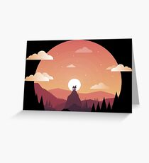 Sunset on the Hills Greeting Card
