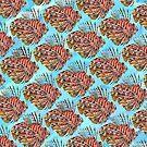 Lionfish Watercolor Pattern by LemonsAndHoney