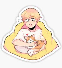 BTS; SERENDIPITY JIMIN & HIS CALICO CAT Sticker
