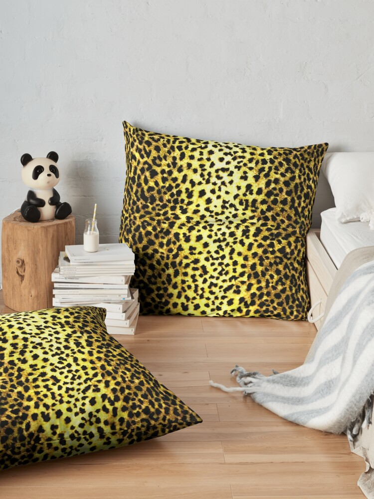 'Leopard Wallpaper Animal Print' Floor Pillow by yonni