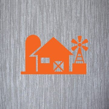 Barn Silo Windmill  by teeprintsio