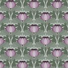 Lavender Art Nouveau Floral Pattern by Eyestigmatic