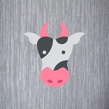 Cute Cow by teeprintsio