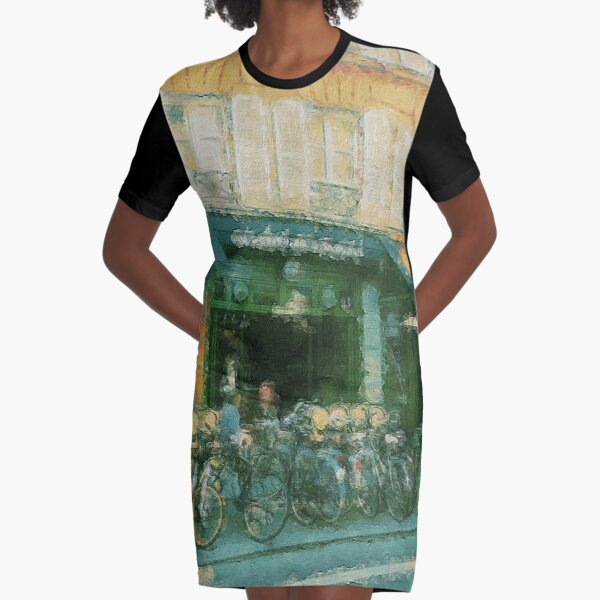 Cycling In France Graphic T-Shirt Dress