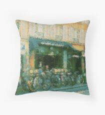 Cycling In France Throw Pillow