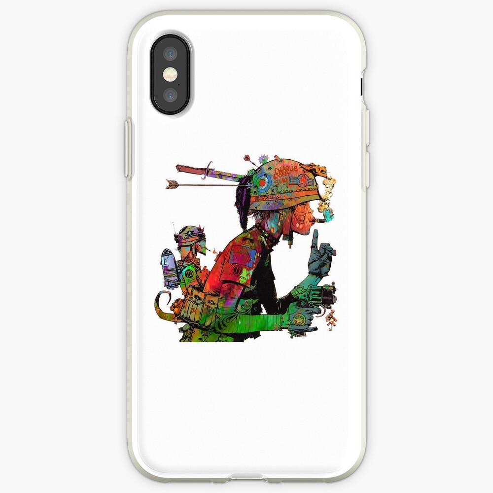 Abstraktes Tank-Mädchen iPhone-Hüllen & Cover