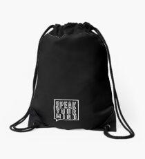 SPEAK YOUR MIND Drawstring Bag