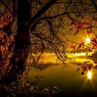 Autumn Sunset by the Lake, Cumbria  by lindaully