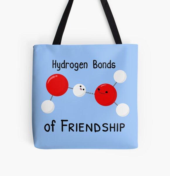Hydrogen Bonds of Friendship All Over Print Tote Bag