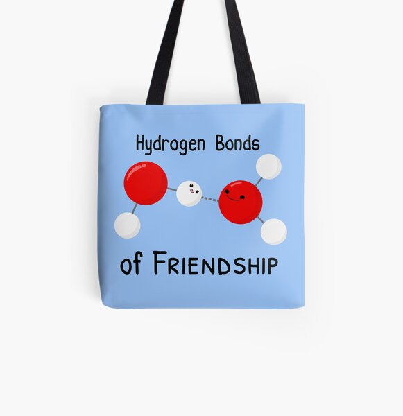 Hydrogen Bonds of Friendship All Over Print Tote Bag
