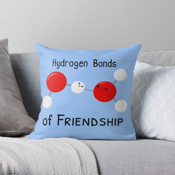 Hydrogen Bonds of Friendship Throw Pillow