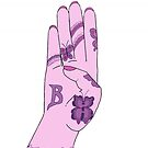 ASL B is for butterfly by redqueenself