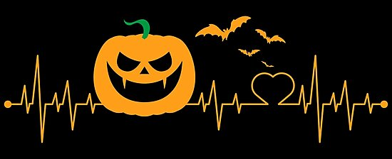 Halloween Pumpkin Heartbeat EKG by lifestyleswag