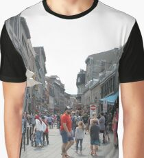 Montreal, People, street, city, crowd, walking, urban, old, architecture, road, building, travel, shopping, traffic, blur, walk, business, tourism, woman, london Graphic T-Shirt