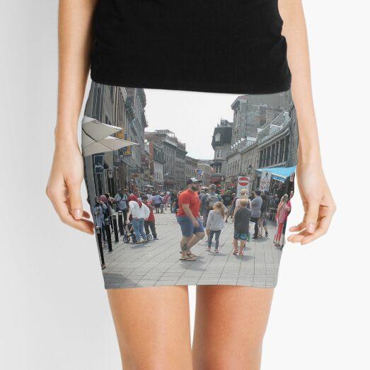 Montreal, People, street, city, crowd, walking, urban, old, architecture, road, building, travel, shopping, traffic, blur, walk, business, tourism, woman, london Mini Skirt