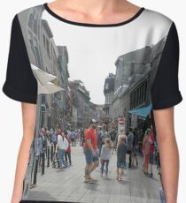#Montreal #People #street #city #crowd #walking #urban #old #architecture #road #building #travel #shopping #traffic #blur #walk #business #tourism #woman #london Chiffon Top