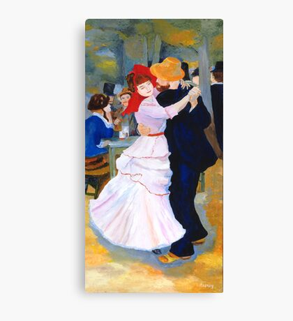 Dance at Bougival after Renoir Canvas Print