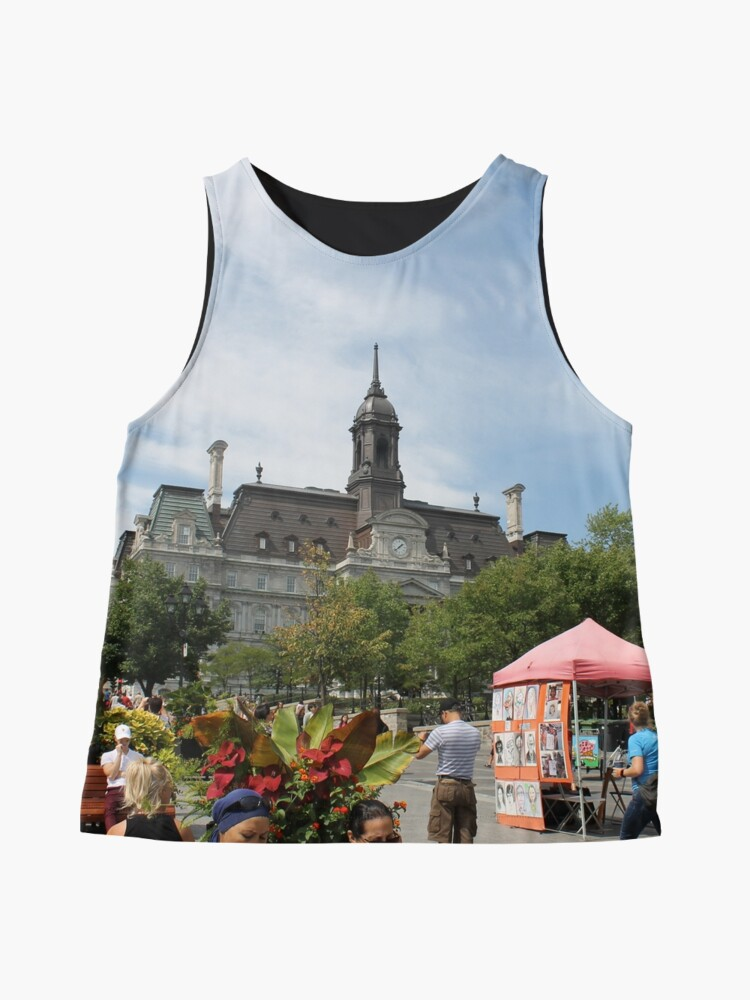 Alternate view of architecture, church, building, city, europe, old, tower, town, castle, panorama, house, cathedral, travel, sky, landmark, medieval, view, historic, cityscape, panoramic, river, tourism, spain, palace Sleeveless Top