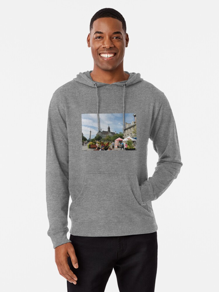 Alternate view of architecture, church, building, city, europe, old, tower, town, castle, panorama, house, cathedral, travel, sky, landmark, medieval, view, historic, cityscape, panoramic, river, tourism, spain, palace Lightweight Hoodie