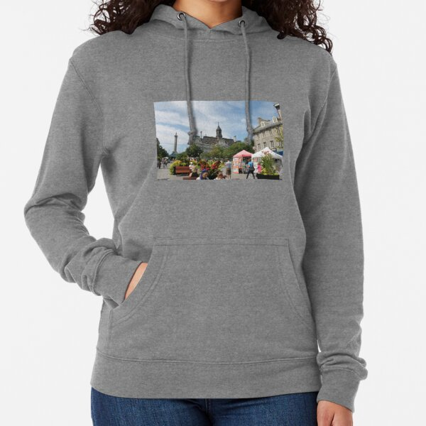architecture, church, building, city, europe, old, tower, town, castle, panorama, house, cathedral, travel, sky, landmark, medieval, view, historic, cityscape, panoramic, river, tourism, spain, palace Lightweight Hoodie
