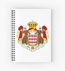 Monaco coat of arms Spiral Notebook