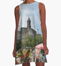 #castle, #architecture #church #building #city #europe #old #tower #town #panorama #house #cathedral #travel #sky #landmark #medieval #view #historic #cityscape #panoramic #river #tourism  A-Line Dress