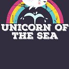 Narwhal Unicorn of the Sea Kawaii Rainbow Grunge Graphic by DesIndie