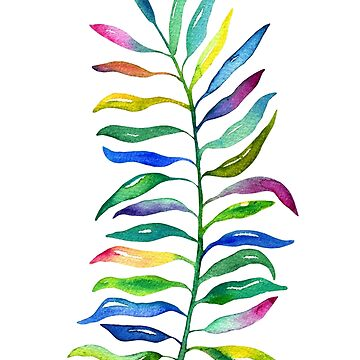 Rainbow Tropical Leaf by noondaydesign