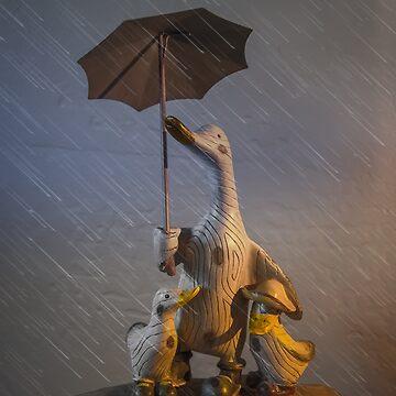 Quacking in the Rain by BigRedCurlyGuy