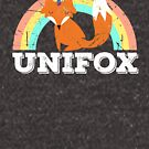 Unifox Unicorn Fox Kawaii Rainbow Grunge Cuteness Graphic by DesIndie