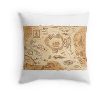Marauder's Map Throw Pillow