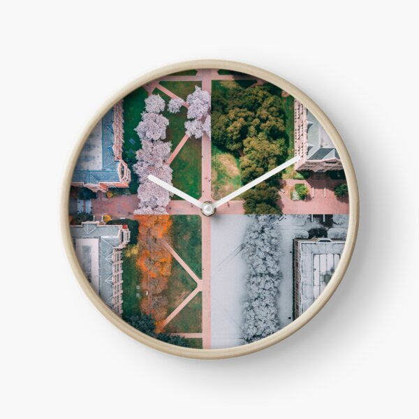 UW Cherry Blossoms - 4 Seasons Clock