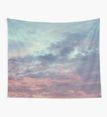 Pink Purple and Blue Summer Sunset Wall Tapestry