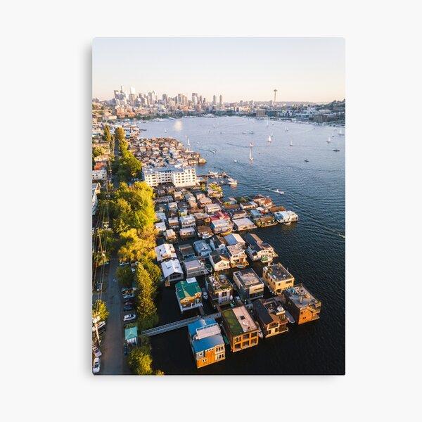 Lake Union Houseboats Canvas Print