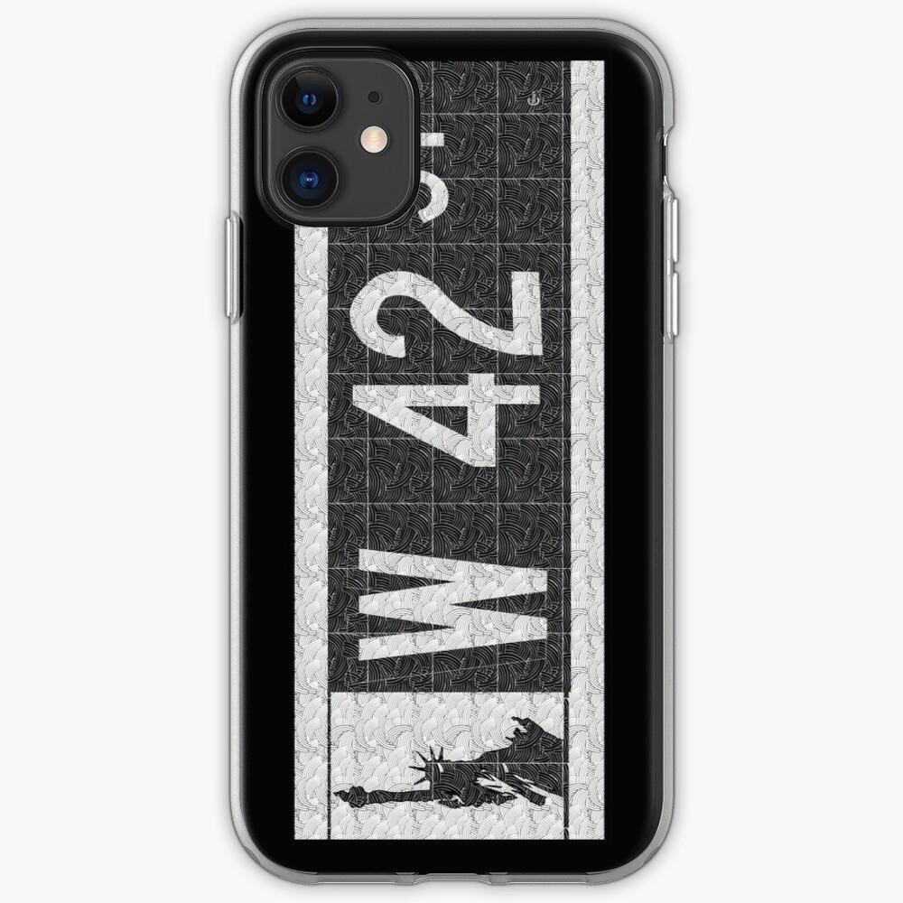 NYC W 42nd Street Sign Deco Swing  iPhone Case & Cover