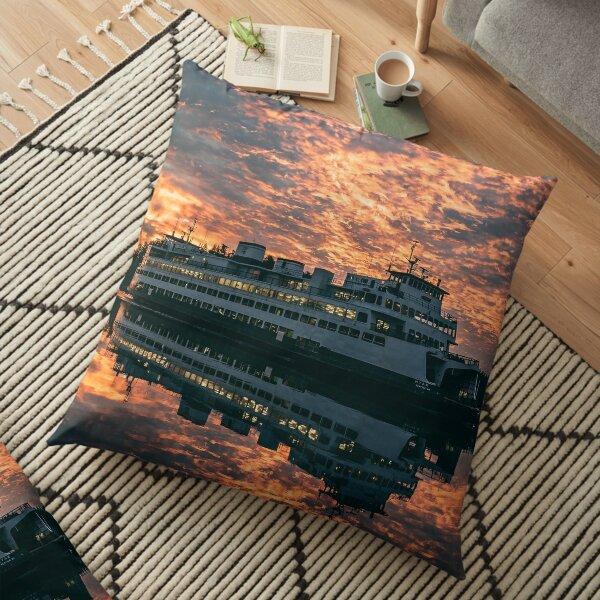 Friday Harbor Ferry Floor Pillow