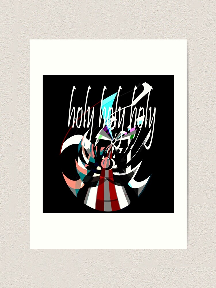 Alternate view of Holy, Holy, Holy, Abstract Angel Design by Jenny Meehan Art Print