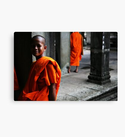 In the temple Canvas Print