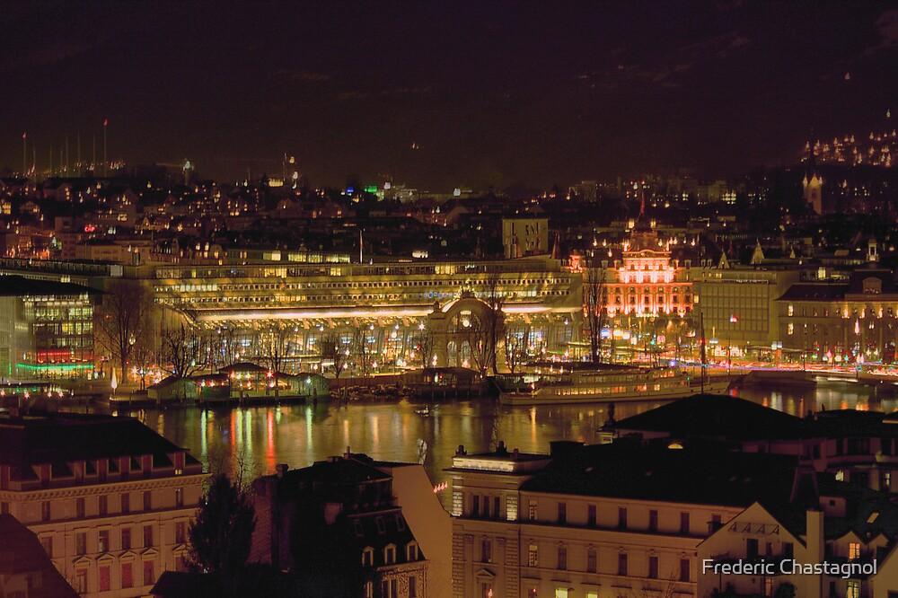Lucerne by night by Frederic Chastagnol