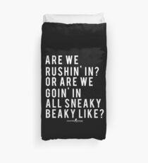 CSGO Quote | Sneaky Beaky | White Duvet Cover