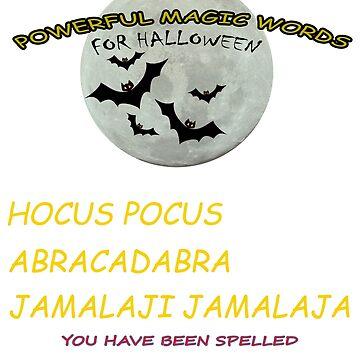 POWERFUL MAGIC WORDS HALLOWEEN by rnarcio