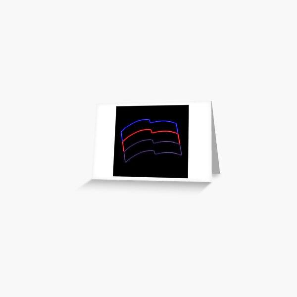 polyamorous neon pride flag Greeting Card