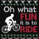 Fun To Ride Ugly Sweater Design by digitalbarn
