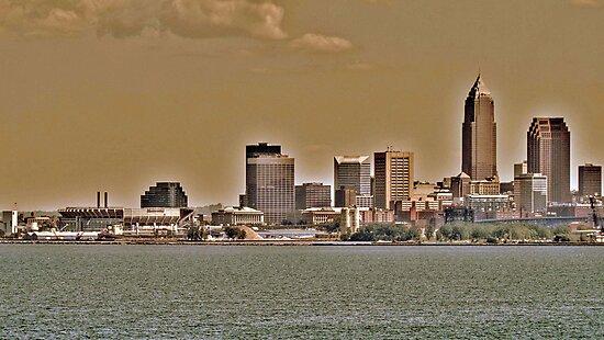 Cleveland Skyline by Jeff  Burns