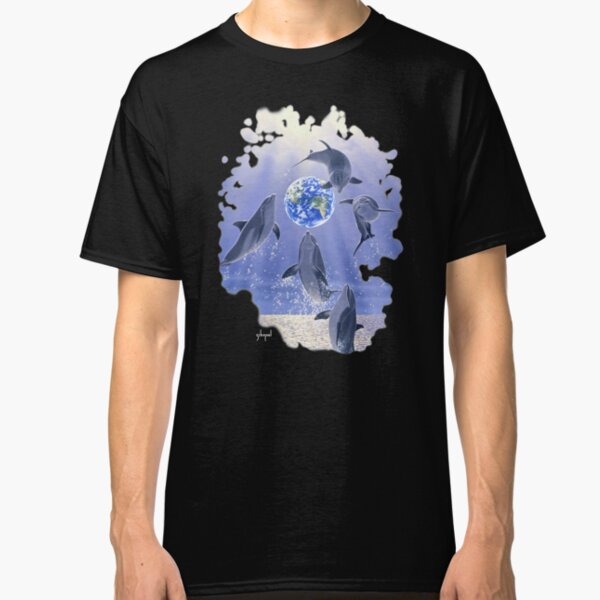 Leaping Dolphins, Earth Classic T-Shirt