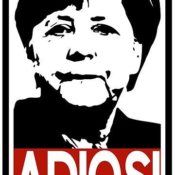 Adios! Mrs Merkel by MrTeeTime