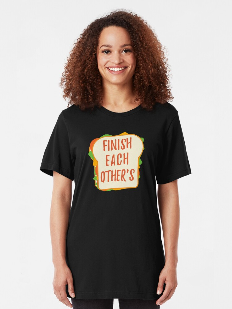Alternate view of Finish Each Other's Sandwiches : Princess Scene Shirt Slim Fit T-Shirt