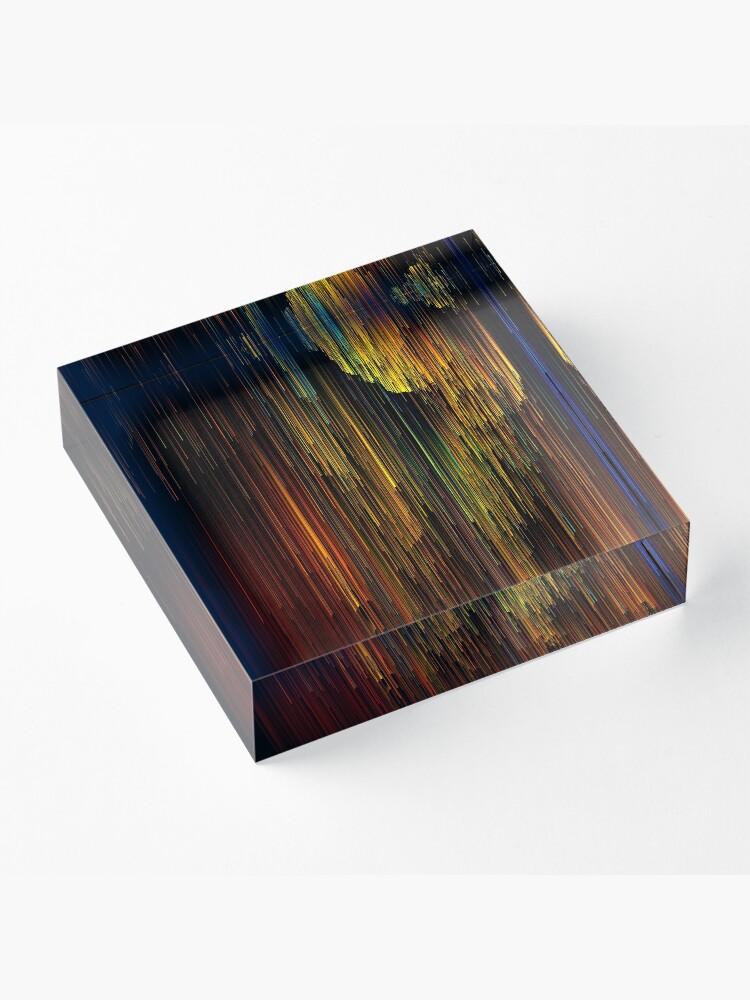 Alternate view of Rainbow Rain Glitches - Pixel Art Acrylic Block