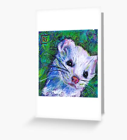 Earth Keeper: Ermine (Short-tailed Weasel) Greeting Card