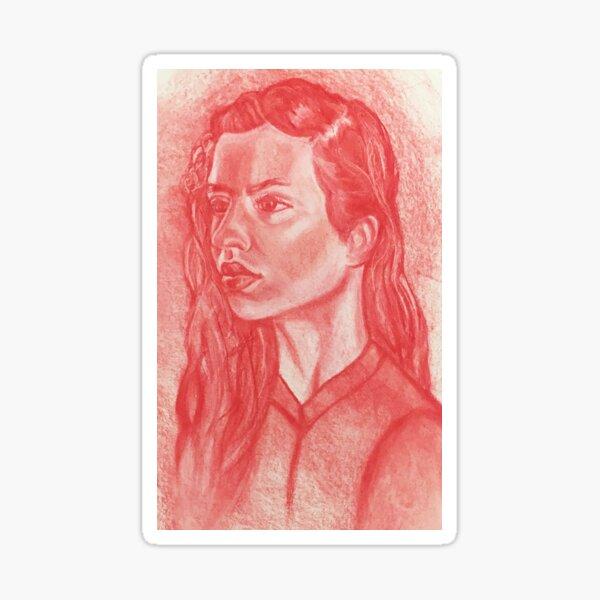 Red Portrait Sticker